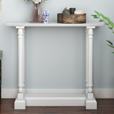 Charlton Home Grobbam Console Table Color: