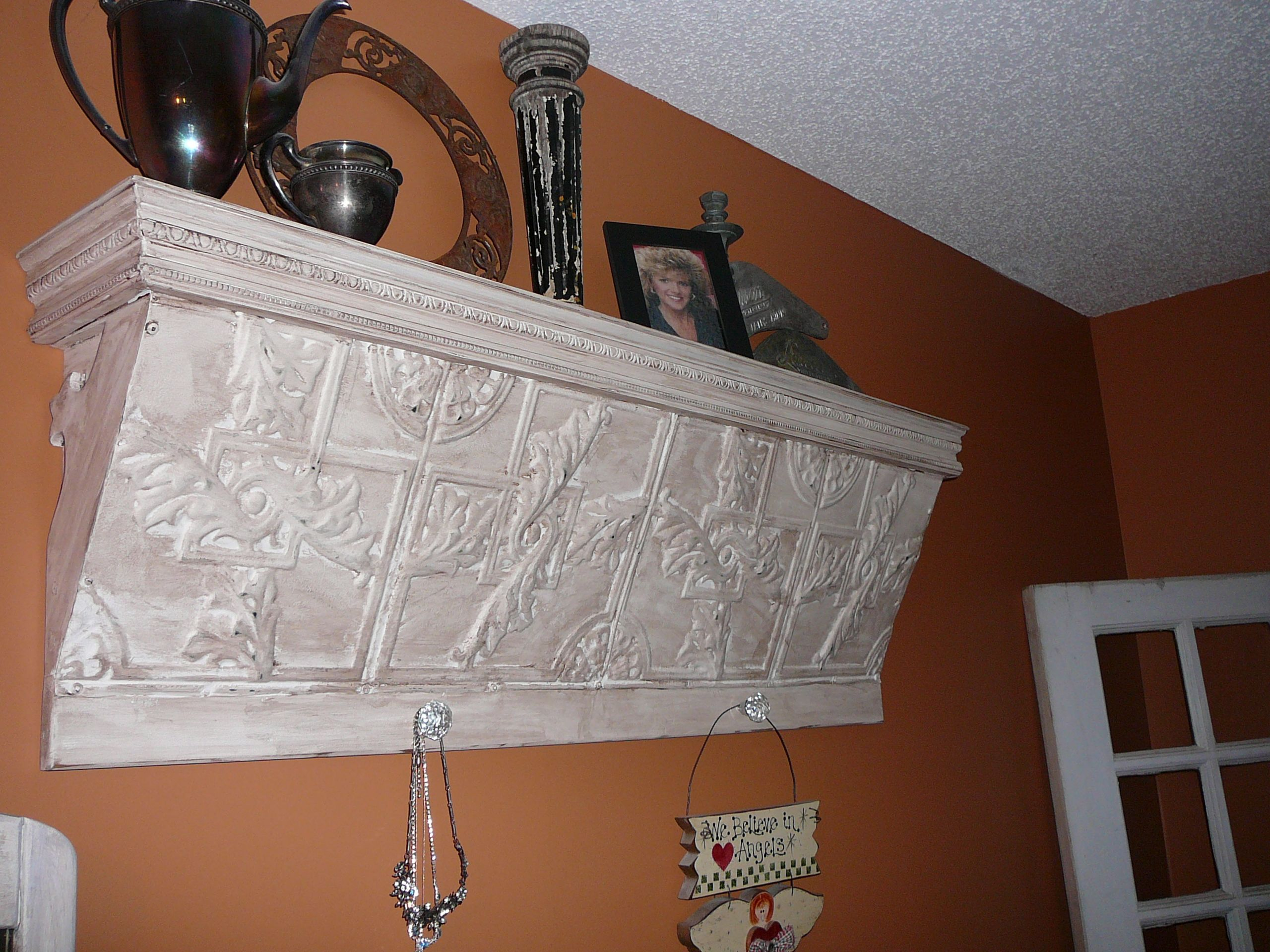 Shelf i built from old tin ceiling tiles bedroom pinterest shelf i built from old tin ceiling tiles dailygadgetfo Choice Image
