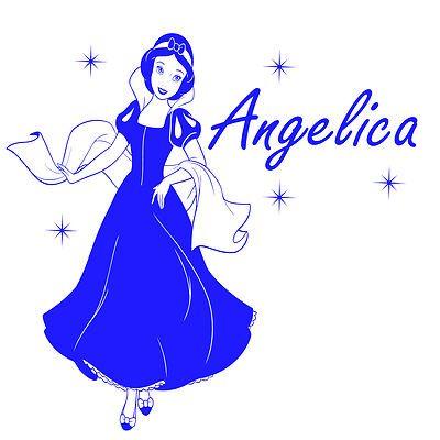 Disney Princess Snow white+ your Name Stickers, vinyl, wallart, decals mural, kids