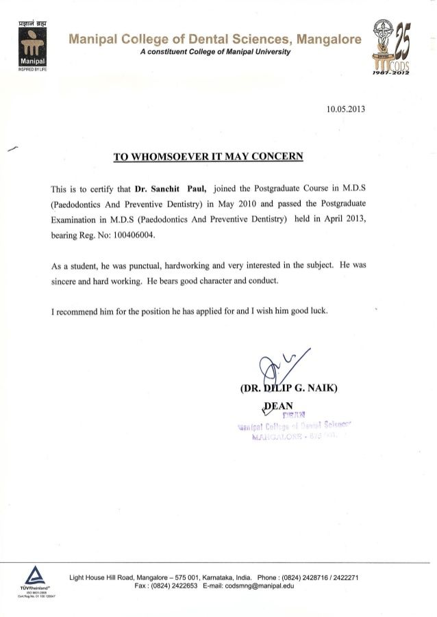 image result for recommendation letter from dean of