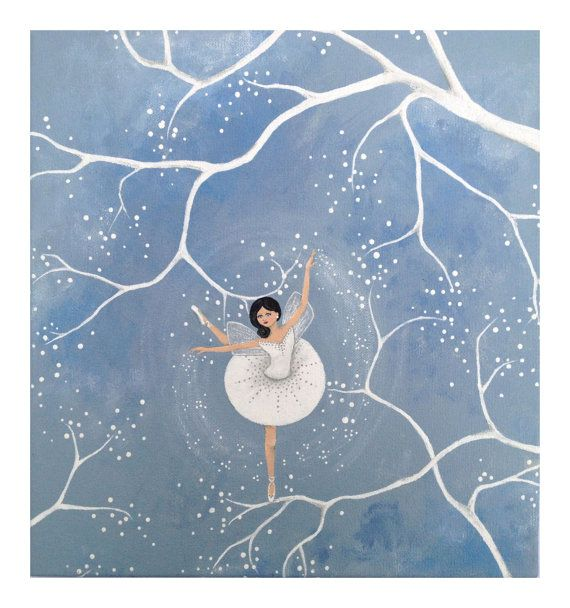 Original whimsical dancing fairy Annabelle painting by LittleSparrowGallery, $65.00