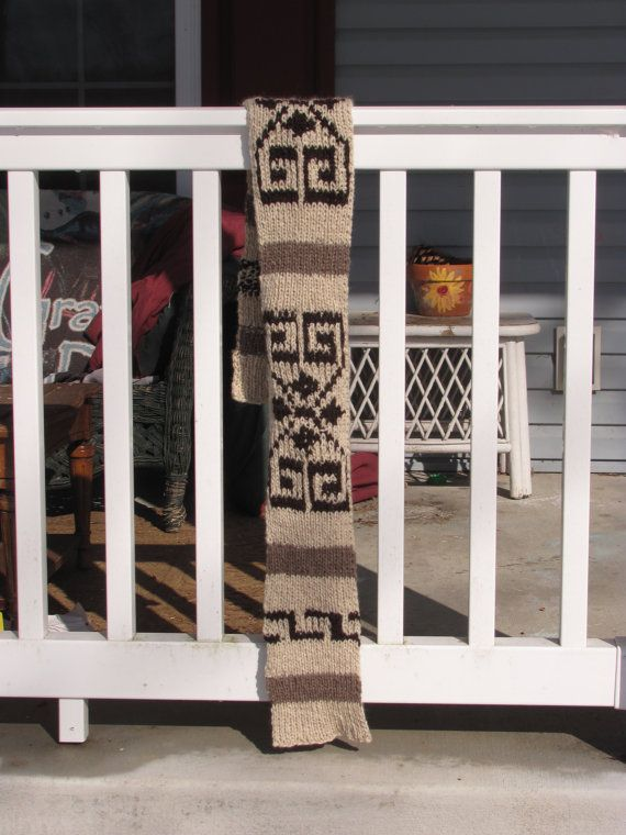 The Dude Big Lebowski Scarf Handknit by PineSpiritWoolworks