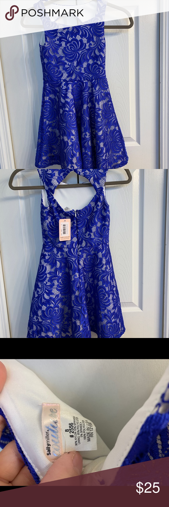 NWT size 8 beautiful royal blue lace dress!!! NWT size 8 gorgeous royal blue lace dress by Sally Miller Couture. No imperfection! Please see pictures for detailed reference. Bundle and save or let's make a deal! Sally Miller Dresses #sallymiller NWT size 8 beautiful royal blue lace dress!!! NWT size 8 gorgeous royal blue lace dress by Sally Miller Couture. No imperfection! Please see pictures for detailed reference. Bundle and save or let's make a deal! Sally Miller Dresses #sallymiller NWT #sallymiller