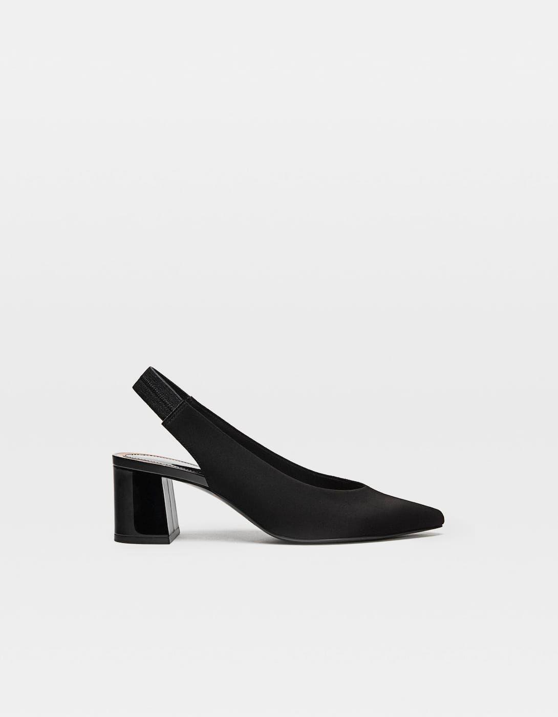 Black Slingback Shoes Just In Stradivarius United Kingdom Shoes Slingback Shoes Slingback