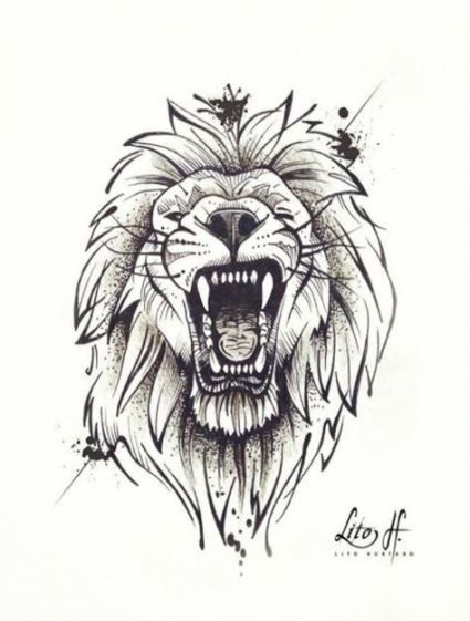 55 ideas drawing sketches tattoo lion