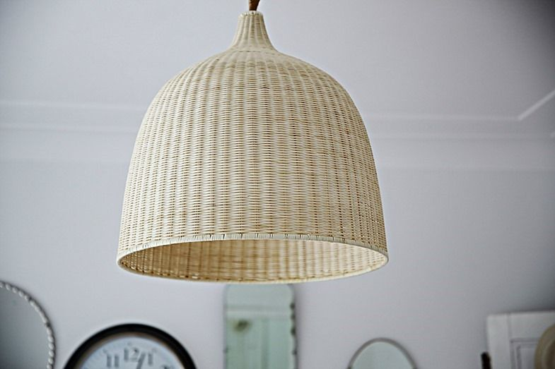 Beach cottage coastal pendant lighting nautical decor rattan abeachcottage coastal vintage style rattan nautical light ikea abeachcottage mozeypictures
