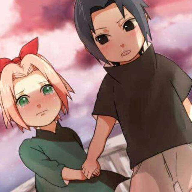 Naruto Shippuden Childhood Of Naruto Sakura Sasuke: Awwwwwwww There So Cute When There Little, SASUKE And
