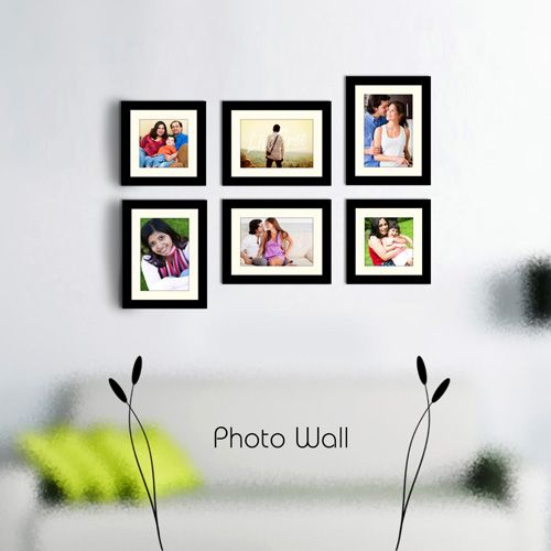 X16 Photo Wall Gallery In Black Photo Wall Wall Black Photo Frames