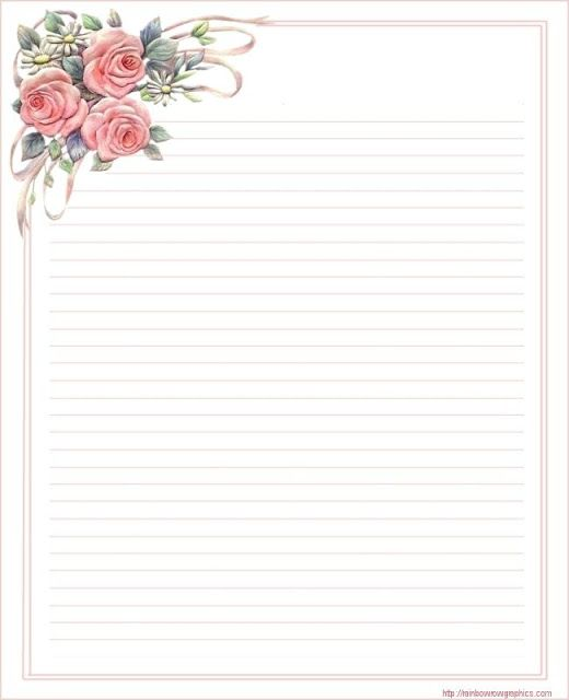 lined stationery stationery\/borders for Adults Pinterest - free printable lined stationary
