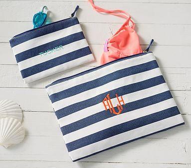 Navy Stripe Wet Dry Pouch Pbkids Wet Dry Bag Kid Room