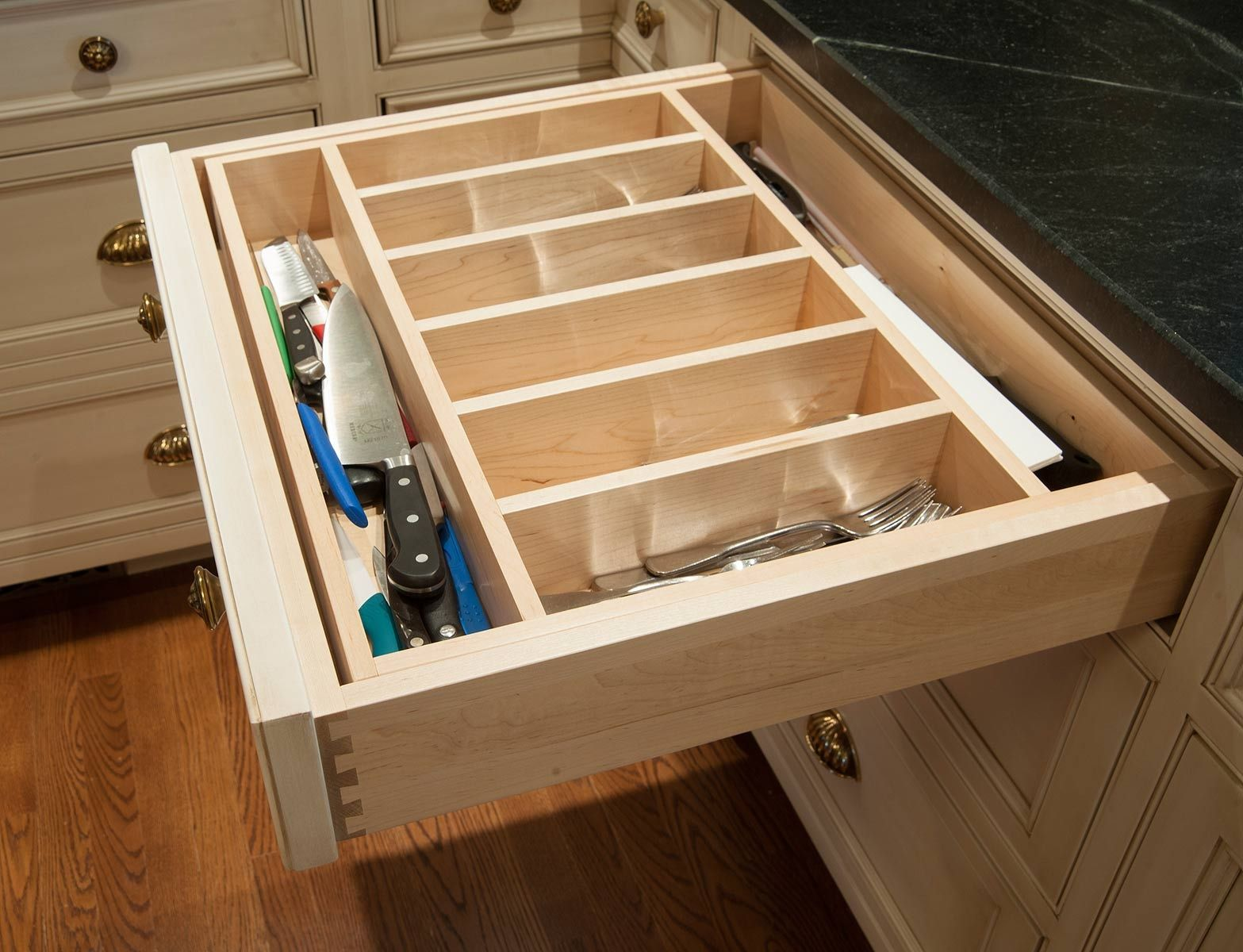 ... Custom Kitchen Drawer Inserts On Custom Kitchen Glass Doors, Custom  Kitchen Wine Racks, ...