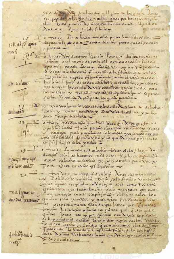 Agreement with Pedro Menéndez de Avilés, by which he undertakes to conquer and discover in peace, friendship and Christianity. March 15, 1565.