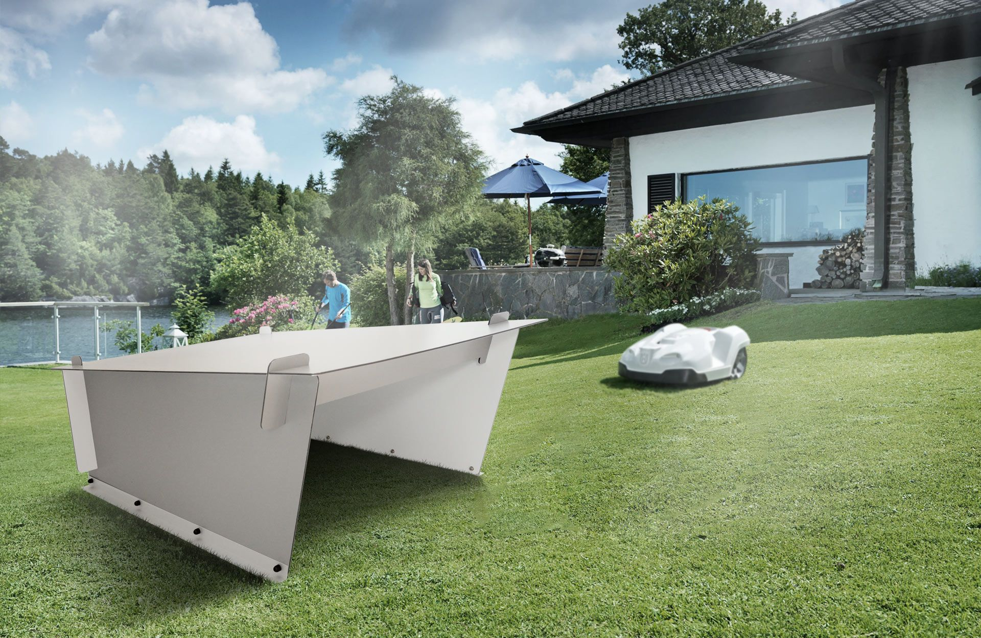 automower rasenm her roboter robotic lawn mower tondeuse. Black Bedroom Furniture Sets. Home Design Ideas