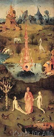 Hieronymus Bosch - Bosch, Garten der Lüste, Linker Flügel