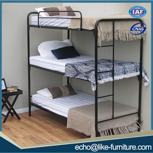 Source High Quality Bedroom Furniture Cheap Used Triple Metal Bunk
