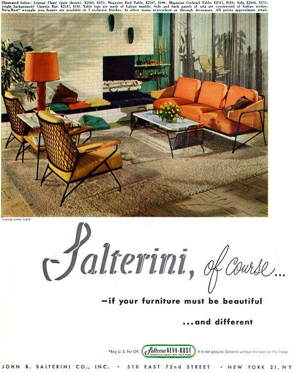 Salterini Patio Furniture Parts: Mid Century Modern Interior