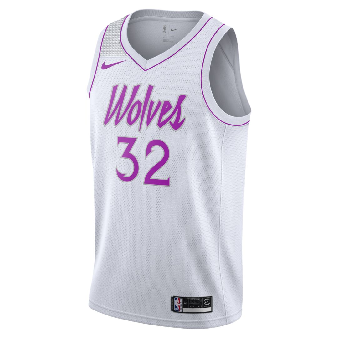6370d572618b Karl-Anthony Towns Earned City Edition Swingman (Minnesota Timberwolves)  Men s Nike NBA Connected Jersey Size 2XL (White)