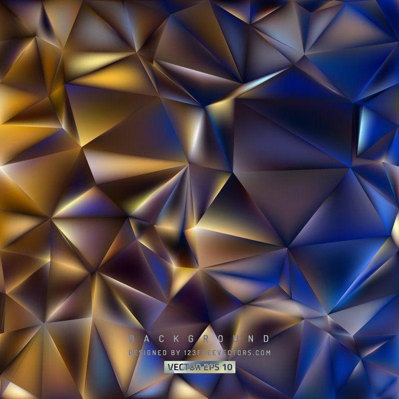 Abstract Dark Color Polygon Triangle Background Vectors