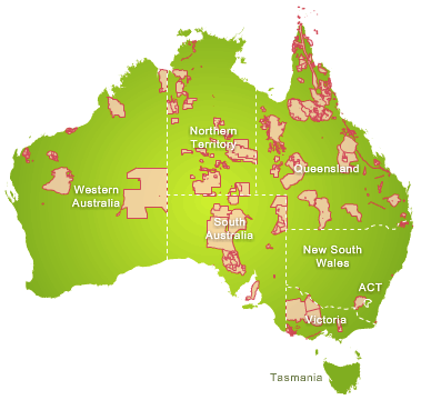 Map of Indigenous Land Use Agreements in Australia in 2010 [19]. Both  titleholders and pastoral station owners jointly manage…   Indigenous  education, Area map, Map
