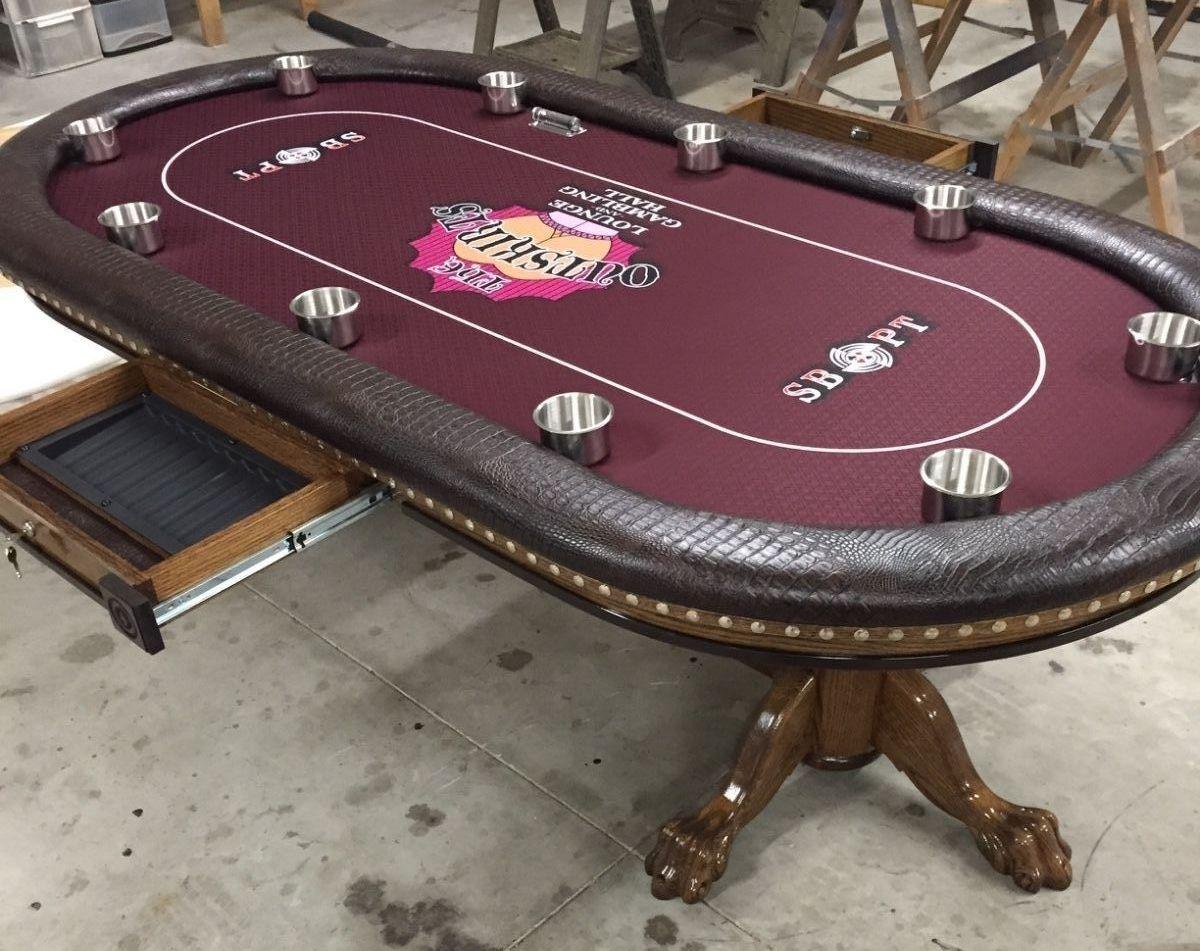 Custom Poker Table With Tke Fraternity Custom Felt Poker Table Custom Poker Tables Poker