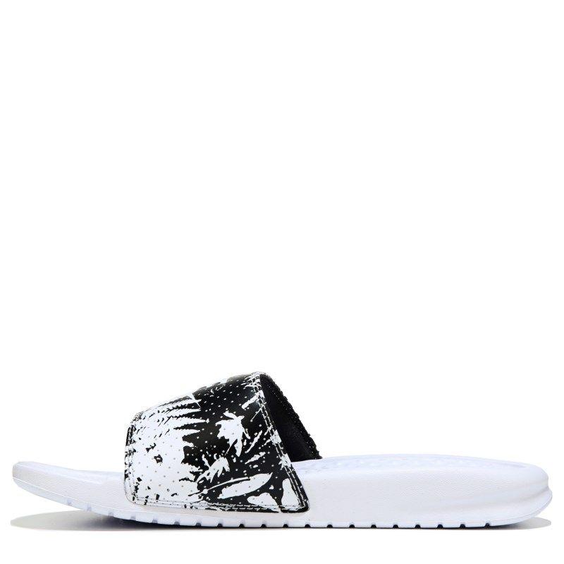 148706ffa820 Nike Women s Benassi Jdi Slide Sandals (White White Black) - 8.0 M