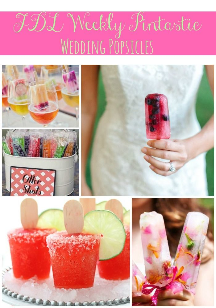 Wedding Popsicles FDL Weekly Pintastic Fleur De Lis Event Consulting Jacksonville FL