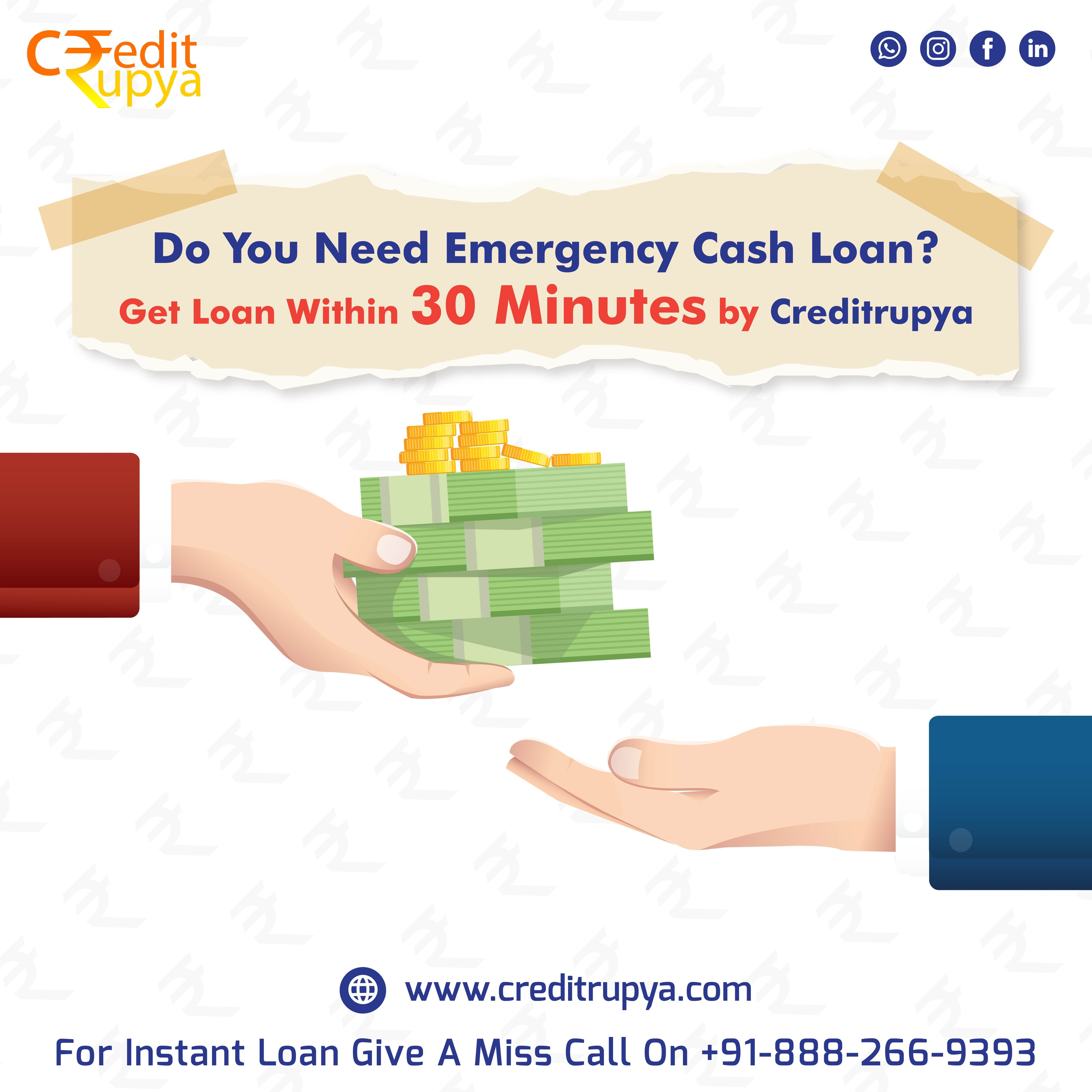 Personal Loan Within 30 Minutes By Creditrupya In 2020 Online Loans Instant Loans Personal Loans
