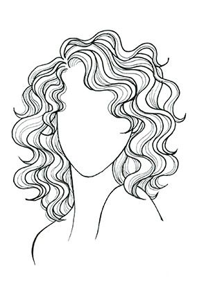 curly wavy shoulder length mane