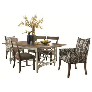 Caravan Eclectic Dining Room Table And Chair Set By HGTV Home Furniture  Collection