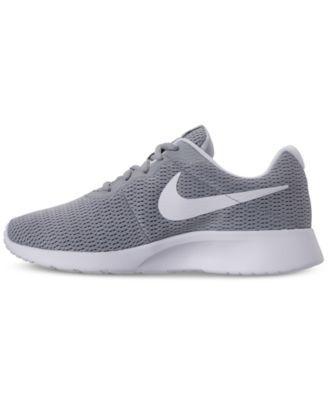 df5e3601226 Nike Women s Tanjun Wide Width (2E) Casual Sneakers from Finish Line - Gray  9.5