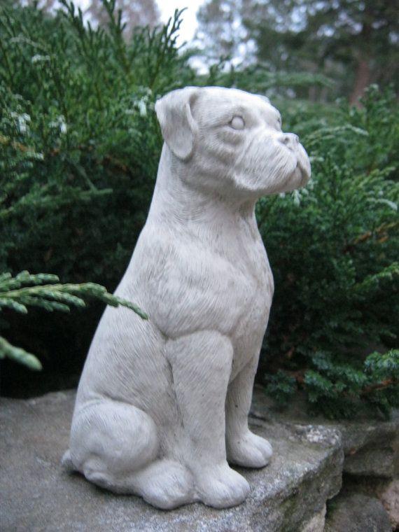 Boxer Dog Concrete Statues Statues Of Boxer Dogs Boxer Dog Statue Pet  Memorial Marker Cement Boxer Figure Cast Stone Home And Garden