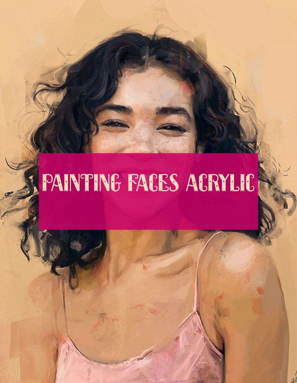 Painting Faces Acrylic Malerei Steht Acryl
