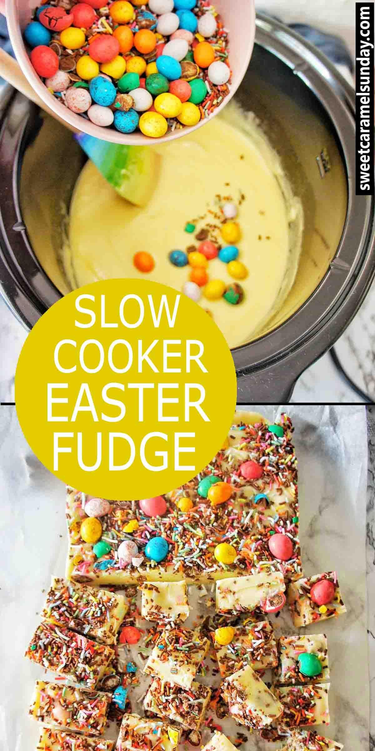 Easter fudge is a white chocolate fudge recipe using