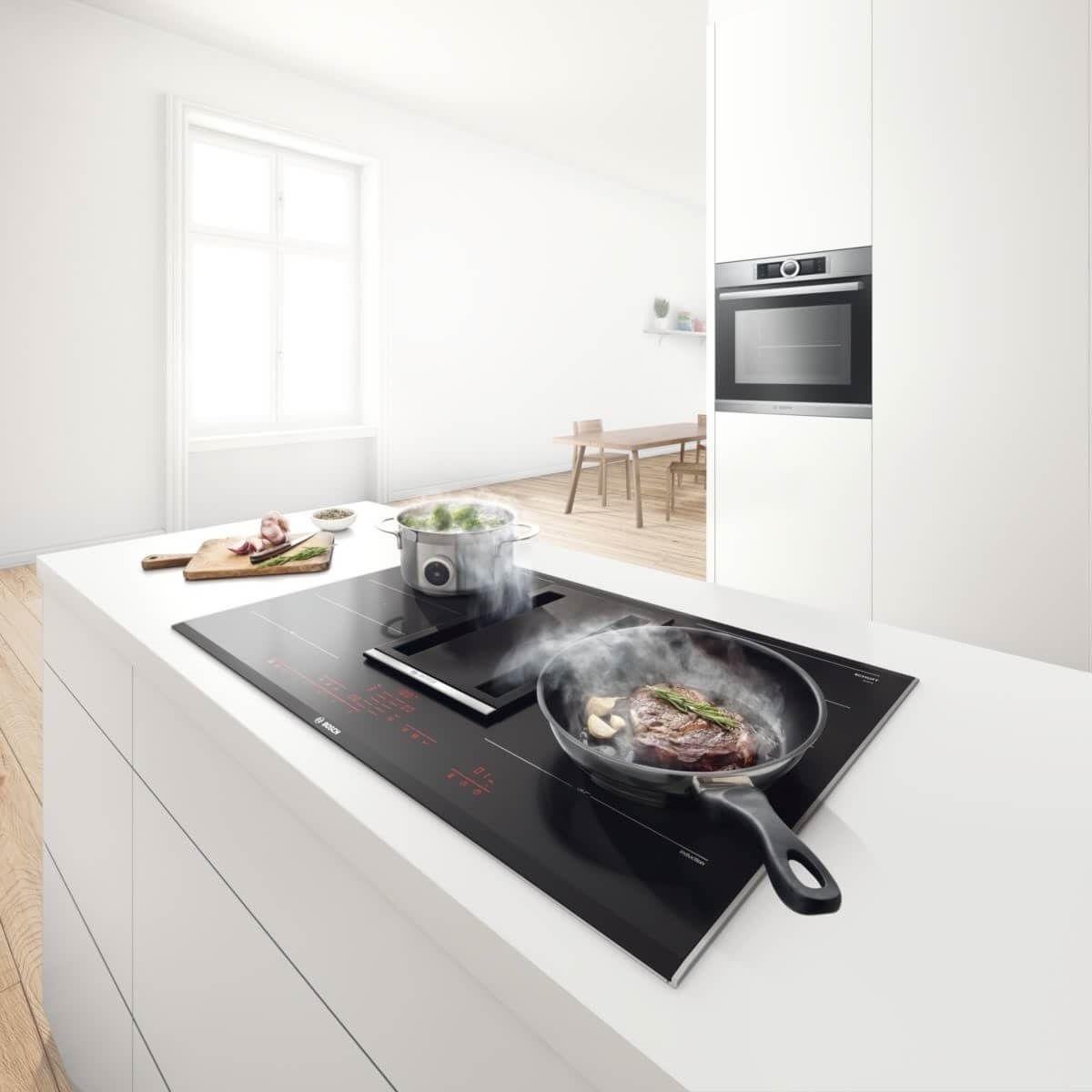Bosch Kochfeld mit integriertem Dunstabzug: Preis, Leistung Bilder vom  neuen Bosch Kochfeldabzug - Küchenfinder | Kochfeldabzug, Dunstabzug, Küchen  design