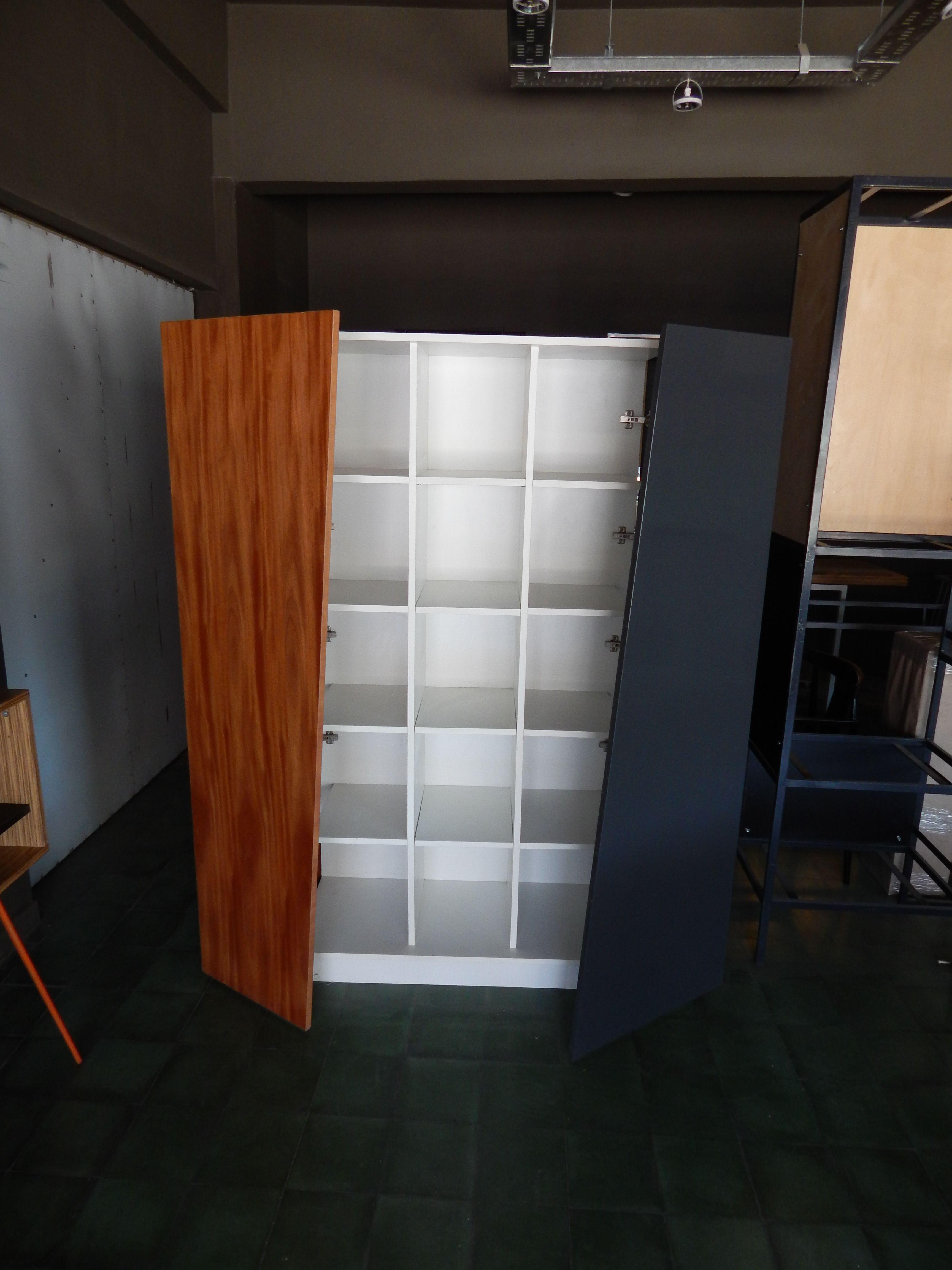 Almac N Puertas Con Mayor Apertura Estanteria En Melamina Blanca  # Muebles De Zoita