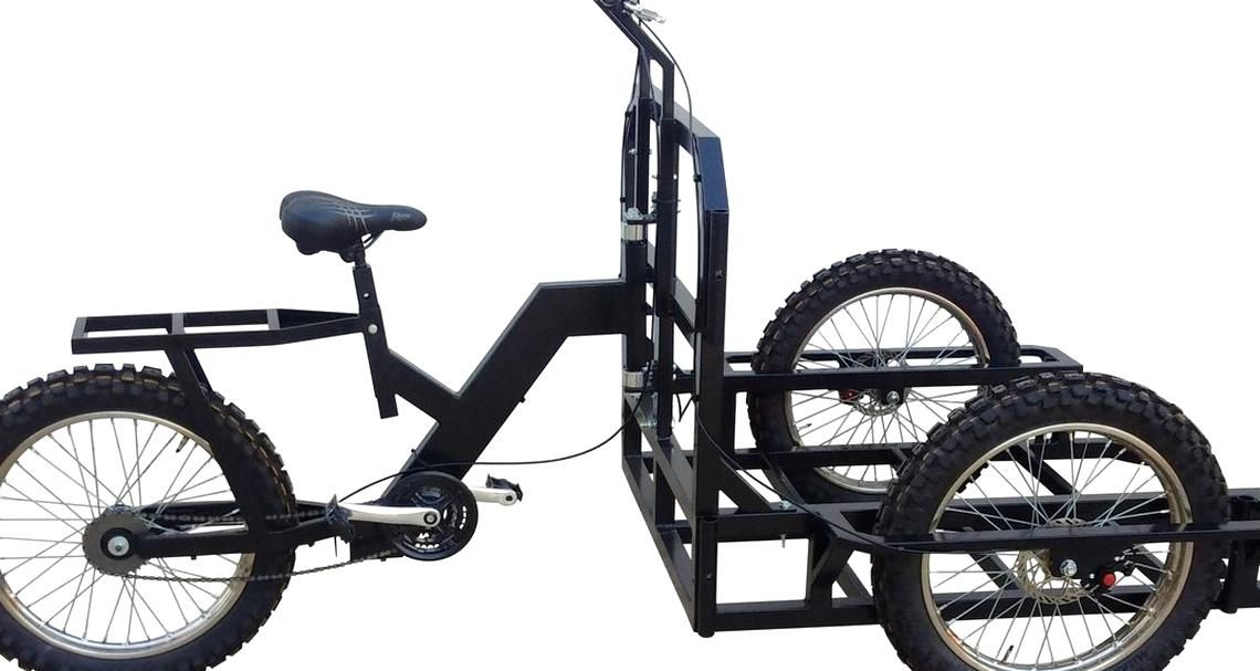 Attila Work Tricycle Cargo Heavy Duty A84 To Built Carts In 2020 Stationary Bike Tricycle Heavy Duty