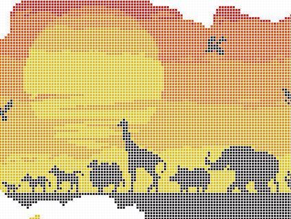 Africa Pattern, African Cross Stitch, Animals Silhouette Pattern ...