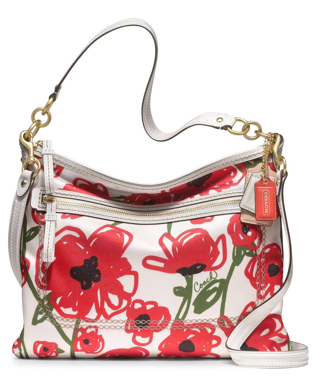8c85825b8b COACH POPPY FLORAL PRINT PERRI HIPPIE - Shoulder Bags - Handbags    Accessories - Macy s