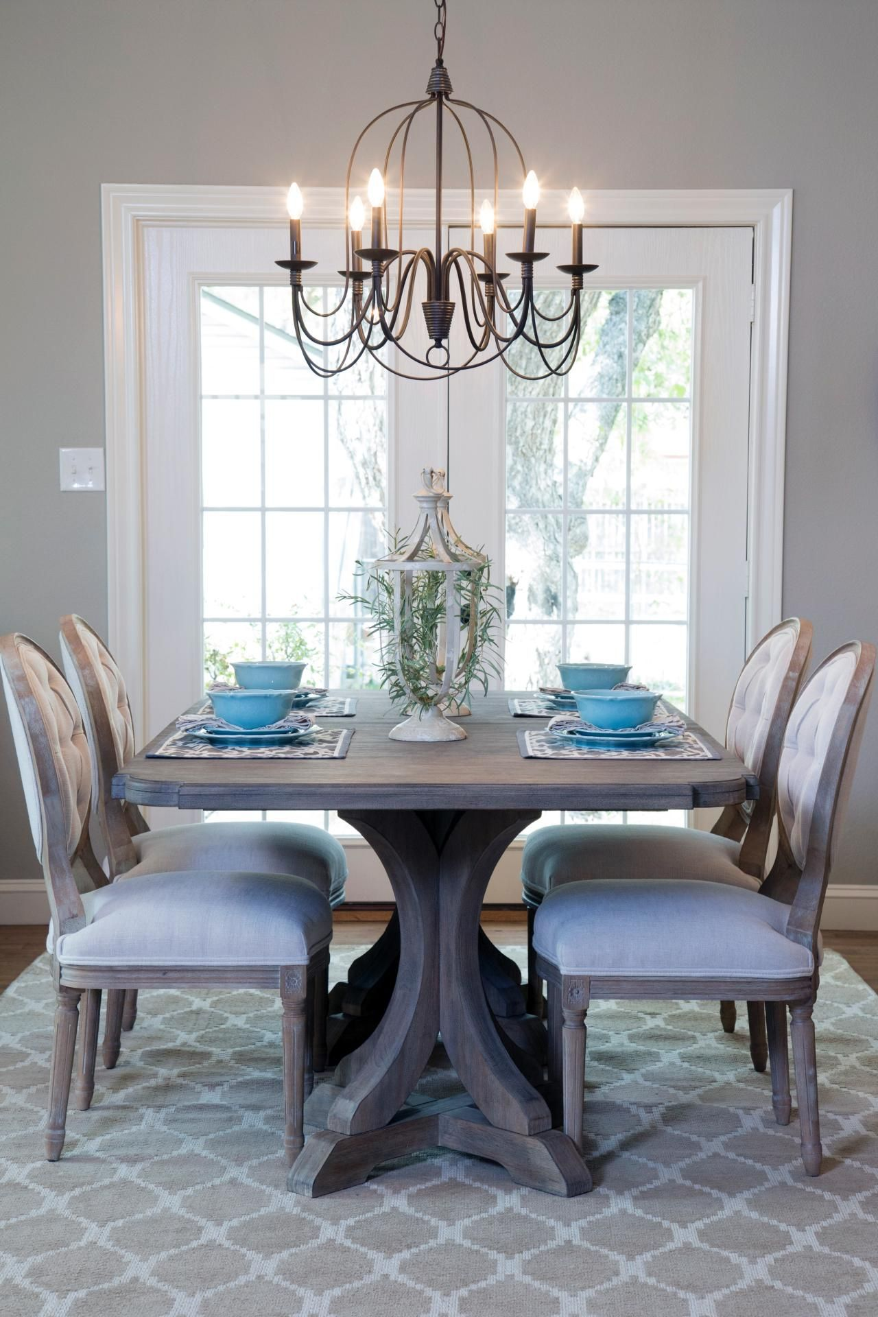Chandelier Dining Room Table