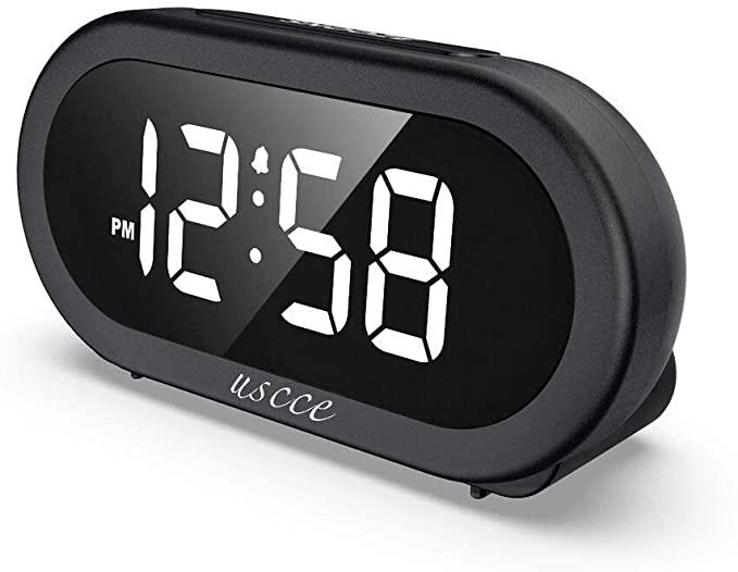 Amazon Com Uscce Small Led Digital Alarm Clock With Snooze Easy To Set Full Range Brightness Dimmer Adjustable Alarm Alarm Clock Digital Alarm Clock Clock