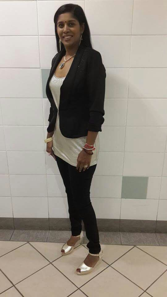 My birthday outfit - Black skinnys, gold top, black jacket with  gold and black accessories and gold wedges