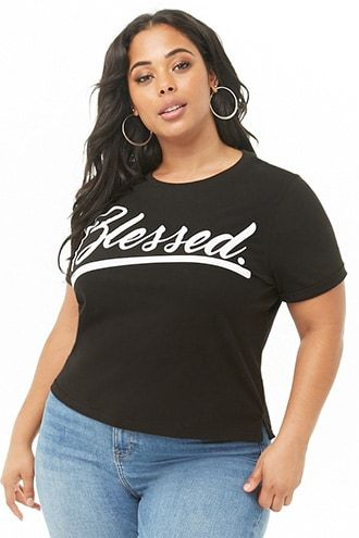 ff6bb1519493 Plus Size Blessed Graphic Tee | The Haves & the Have Nots (*must have items)  in 2019 | Plus size fashion for women, Fashion, Plus size girls