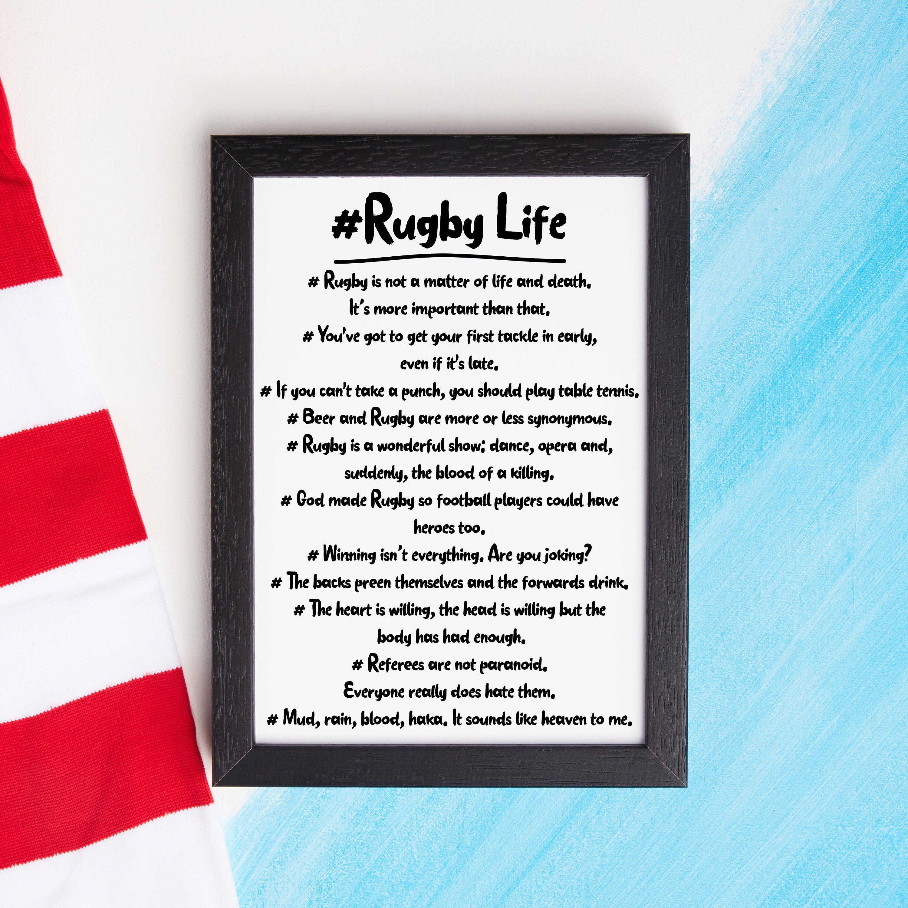 Rugby Life Hashtag Rugby Print Rugby Gift Gift For Dad Etsy Rugby Gifts Gifts For Dad Perfect Gift For Dad
