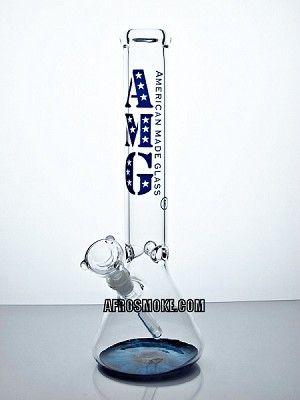 "AMG Glass 15"" Beaker Water Pipe - Blue Eye"