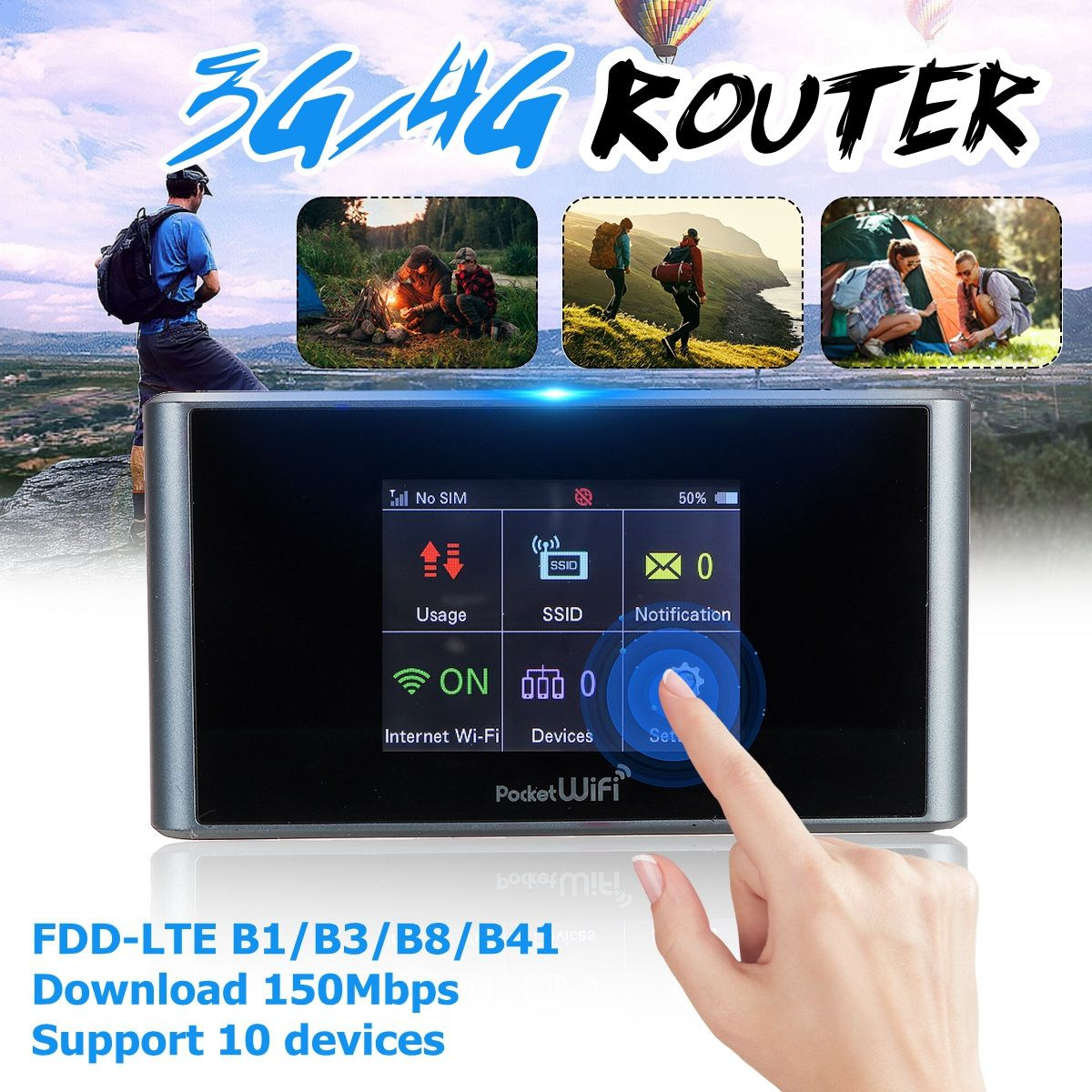 4g lte wifi wireless router mobile hotspot modem dual band