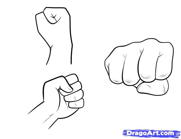 I will start the drawing day with a very simple lesson that is going to show you how to draw fists step by step