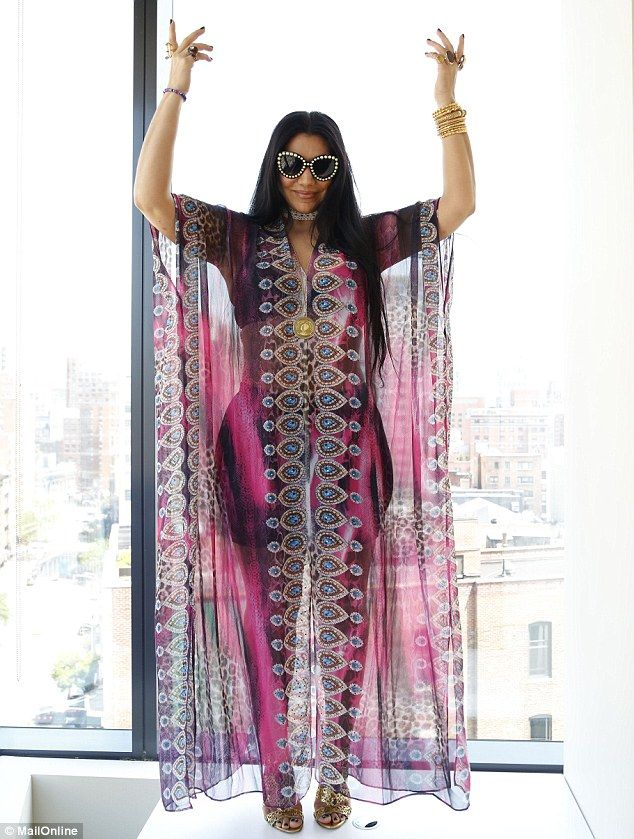 5e5a5871ab I love feeling feminine and sensual.  Kaftans are  kind of like see-through  and you see the silhouette a little bit. It s like art. There s nothing  better