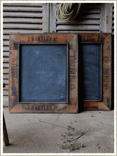 Fruit box black boards