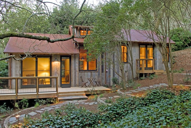 Small Living in the Woods in the Valley - Home Designs, Plans