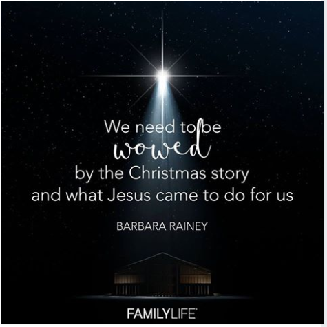 When was the last time the Christmas story took your breath away?